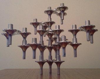 10 Vintage Nagel / BMF 'Orion' Modular Candleholders
