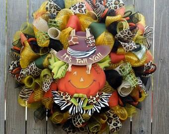 It's Fall Yall wreath XL decomesh