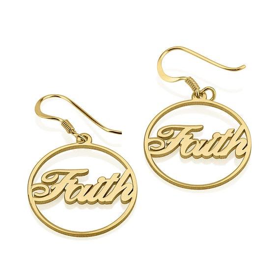 circle name earrings hoop earrings personalized by onecklace