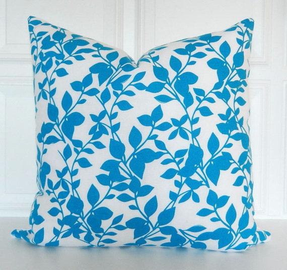 Blue Throw Pillow 20x20 : Aqua Blue Pillow Cover Decorative Pillow 18x18 20x20