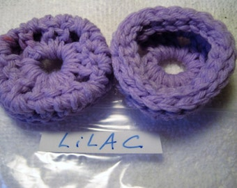 LILAC Ear Pads, Ear Cookies, Ear Cushions for Phone Headset, Call Center, Hand-crochetted, NEW.