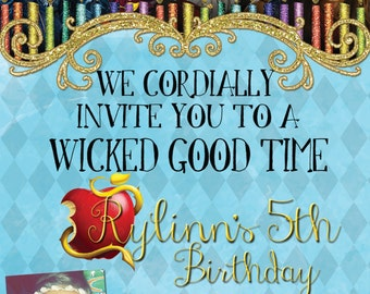 Printable Decendants Birthday Invite!