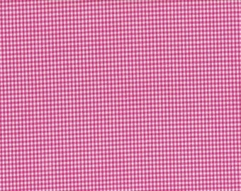 Cotton pink and white gingham 2 mm
