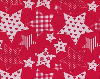 Cotton large red and White Star