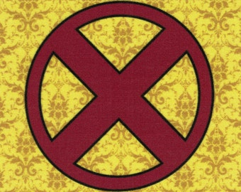 X-Men Logo: Marvel Comics fabric print