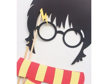 Wizard Harry Birthday Party Photo Booth Props ; Scarf Prop ; Magic Photo Booth Props