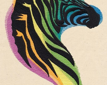 Rainbow zebra fleece blanket