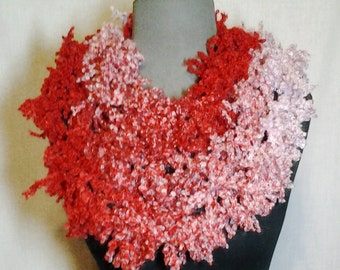 Red and Pink Varigated Fashion Scarf