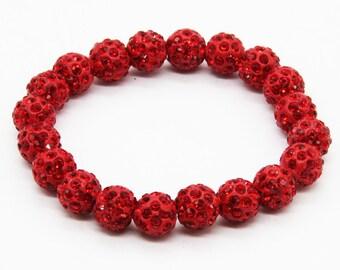 Shambhala Bracelet (20 balls) red