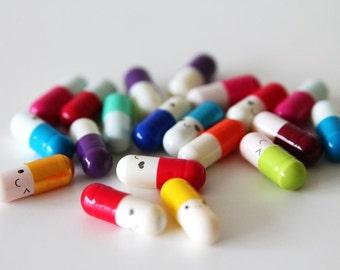 Wish pills - lucky capsules - secret message pills - kawaii pills - lucky pills - capsules - 20 pieces - NOT EDIBLE