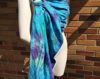 Mystic Tie Dyed ring sling with slate rings