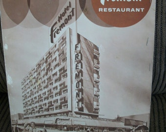 Fremont Hotel Restaurant Menu, meals, 1960, Nevada