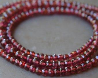 Red Spinel Faceted Rondelles Destash