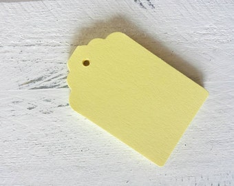 Yellow Gift Tags- Light Yellow- Bright Yellow-25, 50 or 100-Hang Tags-Price Tags-Blank