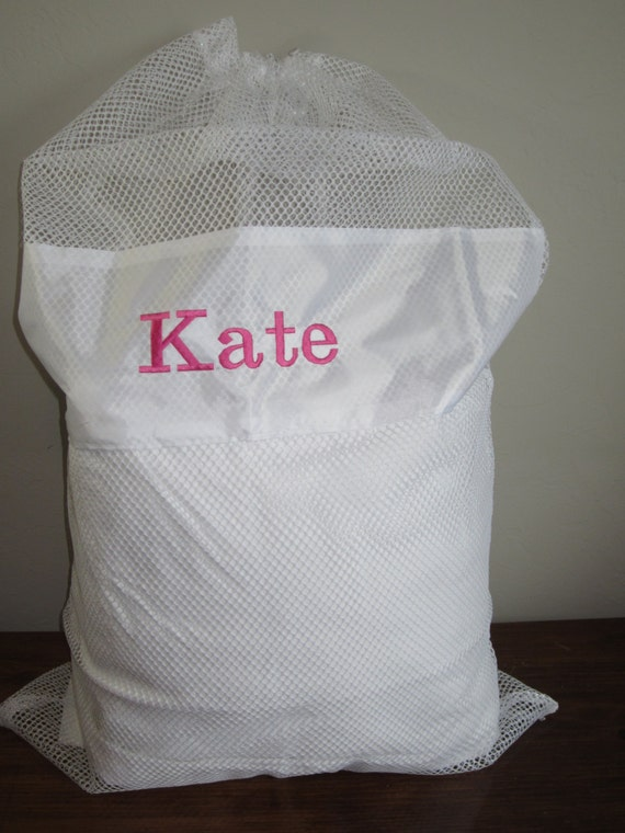Personalized Laundry Bag Mesh Laundry Bag Personalized