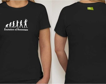 Evolution of Slovenians Ladies Tee