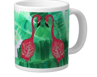 Flamingo Coffee Cup, Custom Mugs, Mug, Unique Coffee Mugs, Coffee Mugs