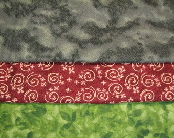 Flannel Remnants Bundle: snuggle flannel, quilter's flannel, cotton flannel, crafting (item 2029)