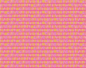 1/2 yard SUNDALAND JUNGLE  by Katy Tanis for Blend Fabrics Dots & Dashes Pink