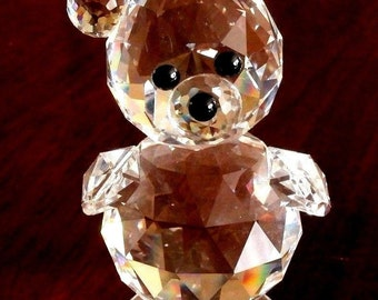 Swarovski Crystal King Bear 7637 092 / 7637NR92 Min Condition (D)
