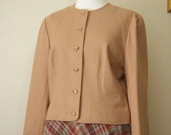 SALE Vintage 1970s Camel Wool Pendleton Cropped Jacket