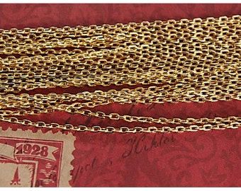 32 ft of 3mm x 2.5mm Gold Plated Chain (CH77)