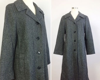 Vintage tweed coat / Wool coat / Winter coat /  70s tweed  / women's men's winter coat