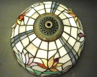 Stained Glass Lamp Shade - bright and retro