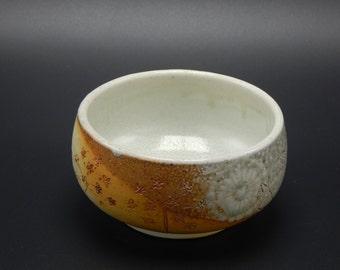 White Flower Bowl - Ceramic Bowl -  Soda Fired Pottery