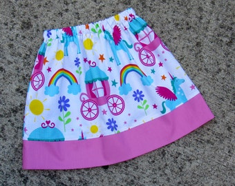 Girl's Unicorn Skirt. Made to Order Skirt in Size: 6mos-8.
