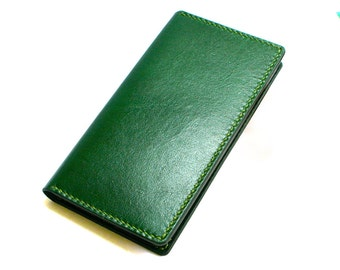 Leather iPhone wallet- Leather iPhone  Plus case- Handmade iPhone  case