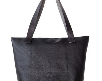Lincoln Deluxe Bag In Black soft leather, Lygon bag