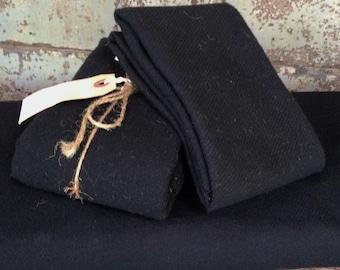 Wool: Fat Quarter 100% Wool - BLACK - Independence Trail by Moda Fabrics