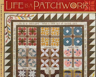 Pattern: Life Is A Patchwork Sampler Quilt Pattern by Timeless Traditions by Norma Whaley