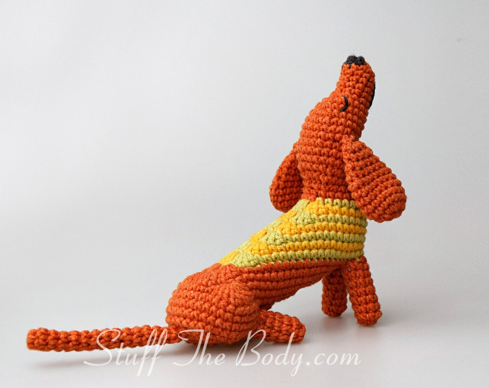 Amigurumi Wiener Dog Pattern : Dalton the dachshund amigurumi pattern wiener dog crochet pattern