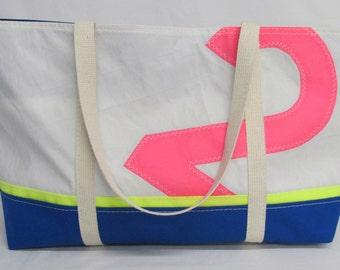 recycled sail tote, sailcloth bag, sail bag