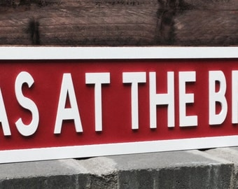 Personalised freestanding/hanging street sign Christmas/xmas at the ....
