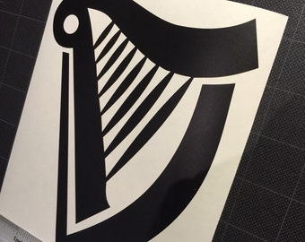 Jason's Harp Golden Vinyl Decal Sticker Guinness
