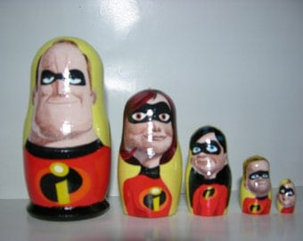 The Incredibles nesting doll
