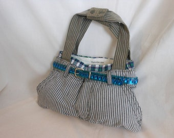 Purse/Tote From Recycled Pants and Boxers