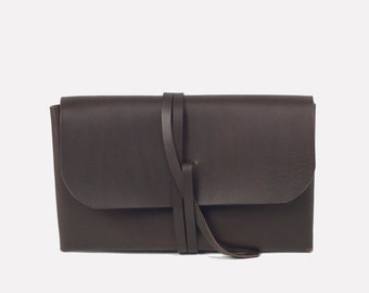 Simple Wrap Clutch - Brown