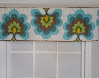 Floral straight window valance