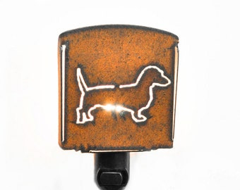 DACHSHUND WIENER DOG nightlight night light made of Rustic Rusty Rusted Recycled Metal