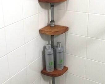 Shower Shelf - Bathroom Shelf -  Bathroom Decor - Shower organization -  Shower Storage - Corner Bathroom Shelf - Hanging shelf - Bathroom