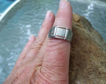 Stainless steel ring size 9.5