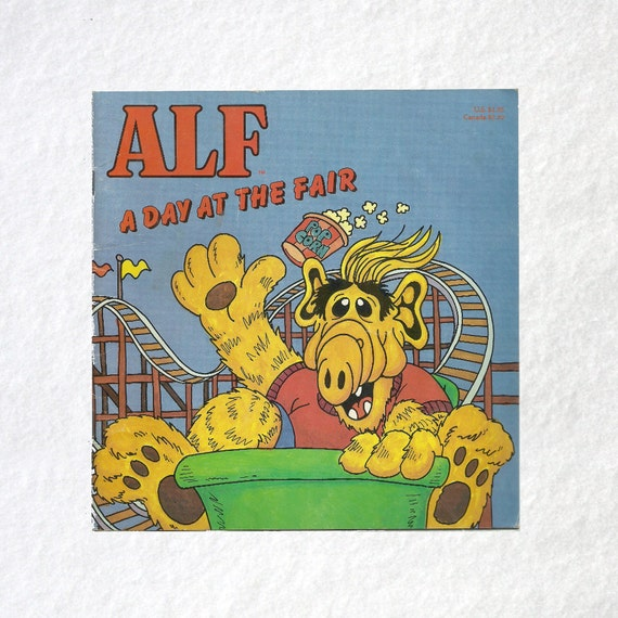 Alf Vintage 1980s TV Show A Day At The Fair By TheBookCottage
