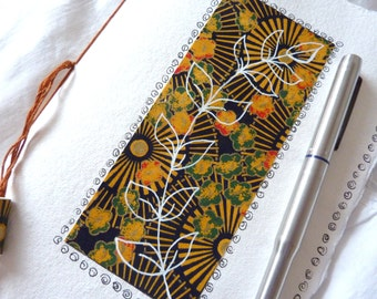 Sketch Book Journal Note Book with abstract leaf design with blank pages