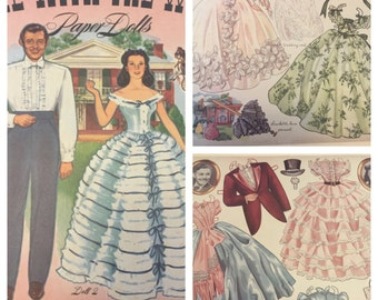 Gone With The Wind GWTW Paper Dolls - Rhett Butler - Scarlett O'Hara - GWTW Collectable