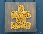 MADE TO ORDER String Art Small Puzzle Piece Sign