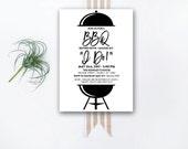 INSTANT DOWNLOAD wedding shower invitation / I Do BBQ invite / I do bbq shower / couples shower / engagement party / backyard bbq invite